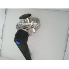 Нержавеющая сталь 304 316L Продовольственная класса Tri Clamp Гигиенический кованый клапан-бабочка
