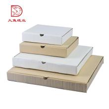 Kundenspezifische Logo billige Wellpappe weiße flache Pack Geschenkboxen