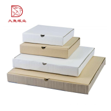 Custom logo cheap corrugated paper white flat pack gift boxes