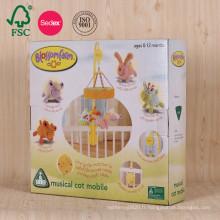 Emballage de boîte ondulée de couleur pour des cadeaux de bébé