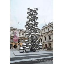 Edelstahl-Außen-Skulptur