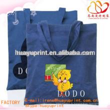 Sac à provisions ecologique en coton biologique / petit sac en coton imprimé personnalisé AT-1037