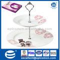 Горячие продажи круглой формы 2 слоя фарфора торт стенде fiestaware