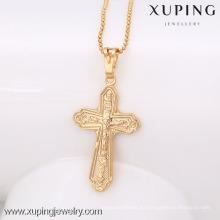 32444 Xuping nuevo diseño dorado cruz colgante