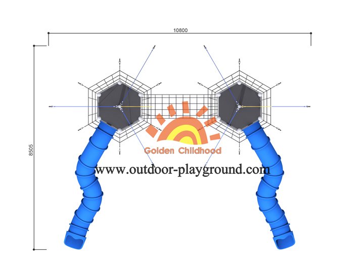 Double Indoor Playground For Toddlers With Tube Top