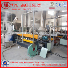 wood plastic pelleting machine WPC granules making machine