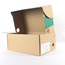 Factory Supply Cardboard Packaging Shoe Box Carrier Apparel Box with Custom Printing