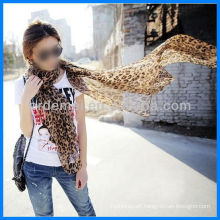 Printed polyester leopard grain scarf wholesaler