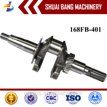 High Performance Engine Crankshaft 168FB, Steel Forged Crankshaft