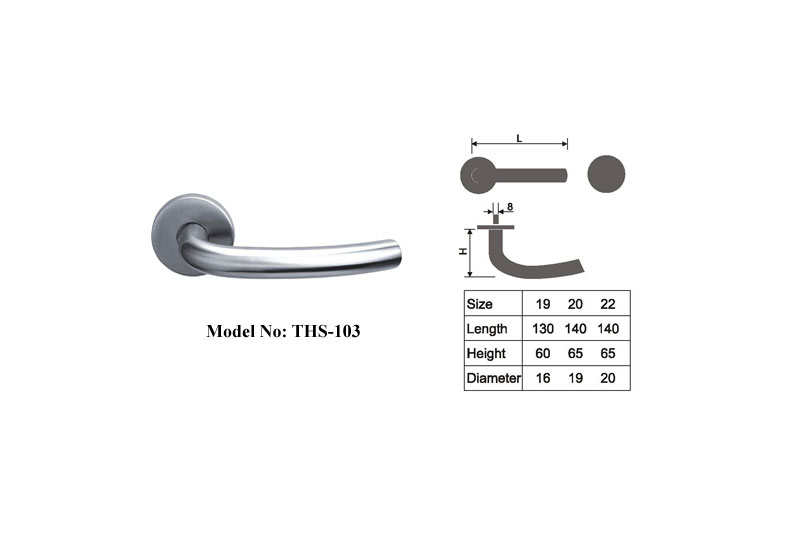 Modern Door Lever Handles Satin Stainless Steel