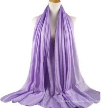 2017 luxury design plain linen silk arabic hijab women dubai scarf