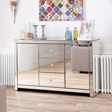 Venetian Mirrored Large Sideboard