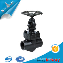 Standard forged steel globe valve in 2'' 4'' 5'' tested by ISO