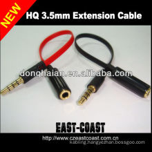 3.5mm M to F Car Stereo Audio AUX Cable For Mp3 Cellphone