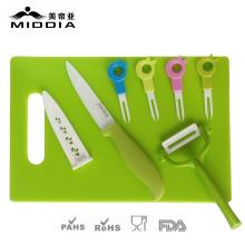 Керамическая посуда для ножа+Овощечистка+вилы+Шинковка для посуды