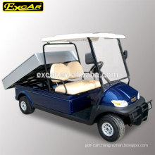 48V electric fuel type CE cheap golf cart for sale with cargo bed