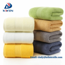 Yarn 32s/2 solid color small polka dot 35x75cm 100% cotton face towel price