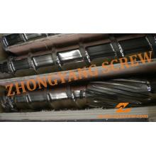 Recycelte LDPE-Drahtrohr-Einzelextruderschnecke und -zylinder