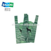 Sacos biodegradáveis para cocô de amido de milho