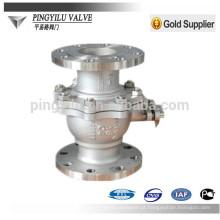 Pn25 C4 aço inoxidável 321 316 304 flange válvula de esfera com melhor preço