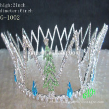 New designs rhinestone pageant crowns for kids