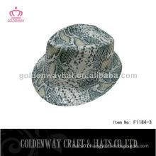 Wholesale sequin fedora hat snake pattern cheap