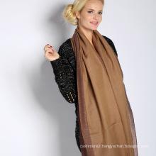 Silk & Acrylic Jacquard Scarf