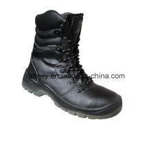 Chaussures de sécurité cuir fendu avec Mesh doublure (HQ05039)