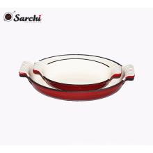Plato de hierro fundido de esmalte plato / placa