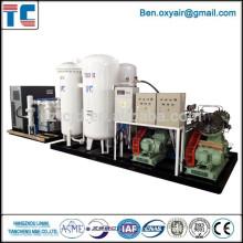 PSA Sistema de llenado de nitrógeno