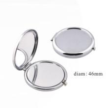 Miroir de poche cosmétique à fond plat (BOX-41)