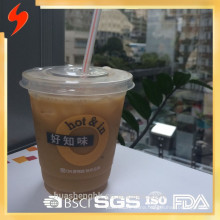 Free Sample 12oz PP/PS Clear Disposable Plastic Cup