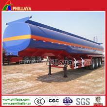 3 Achsen-flüssiger chemischer Tanker-Anhänger 50cbm mit PVC- / Gummizwischenlagen