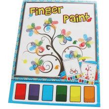 pintura de dedo mágica de los niños del color del agua