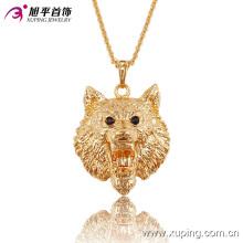 Moda CZ Elegante 18k Gold-Plated Animales Forma Serie Collar de la joyería de imitación Colgante-32522
