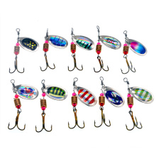 High Quality Fishing Spinner Tackle Lure Hard Bass Baits Metal Spoon Lure Treble Hooks