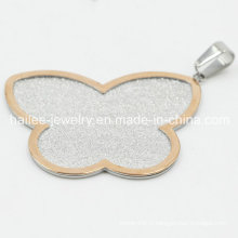 Belle pendentif en bijoux en papillon en acier inoxydable 316L
