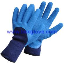 Doublure en acrylique à 7 épaisseurs, éponge extra large et éponge, revêtement latex, gants de sécurité 3/4