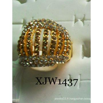Bague plaquée or en diamant (XJW1437)