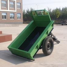 Single axle two wheels walking tractor trailer