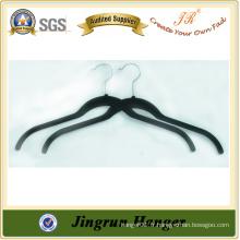 Expérience Fabricant Black Plastic Flocked Hanger for Sweater