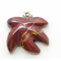 Maple Leaf Shape Red Jasper pendant