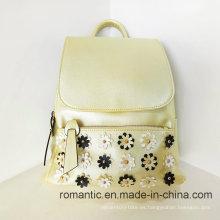 PU de moda mujer mochila de viaje de cuero de cuero de las mujeres (ly060237)