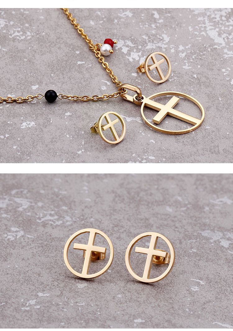 cross jewelry set