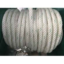 La fibra química 6-Strape rope el polietileno de la cuerda del amarre, poliéster mezclado, cuerda de nylon