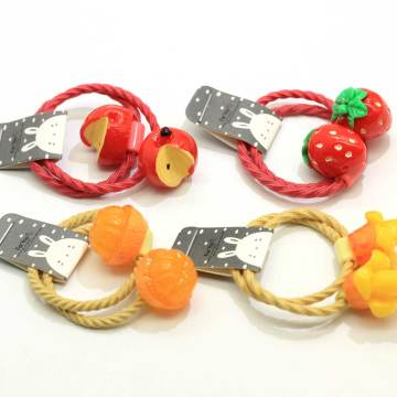 New Kawaii Baby Elastic Hair Band Strawberry Orange Apple Mango Fruit Decoration Elastic Hair Tie Ponytail Holders