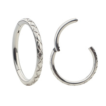 Simple and stylish ASTM F136 Titanium high polished septum nose ring body piercing jewelry