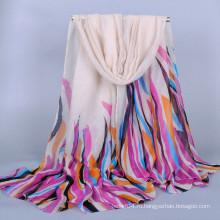 Красочный полосой вуаль оптовые шарф хиджаб