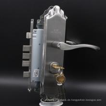 Entery Tür Edelstahl Lockset mit Euro Profil Zylinder und Schlüssel Einsteckschloss Griffset