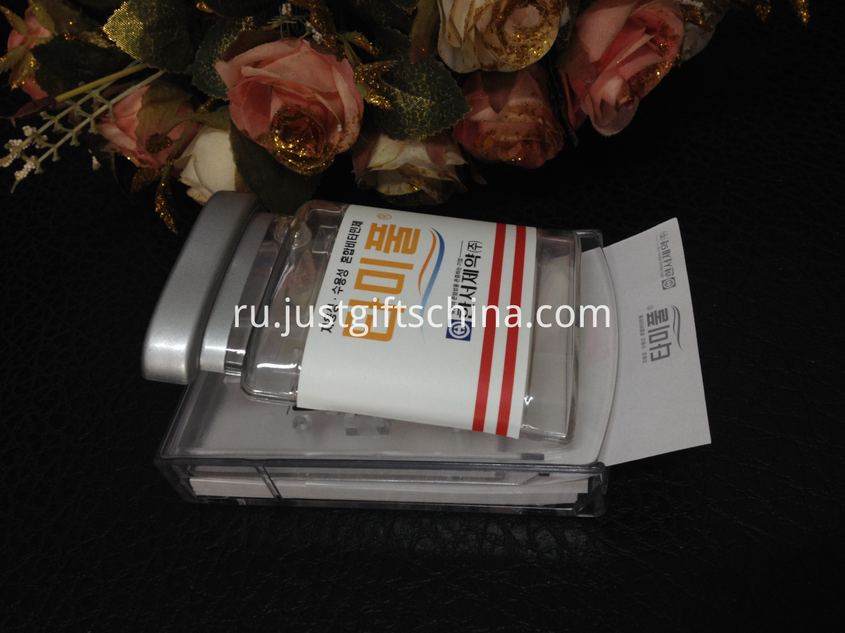 Promotional Plastic Notes Box